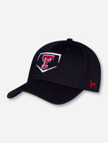 "Under Armour Texas Tech Baseball ""Home Plate"" Sized Stretch Fit Cap"