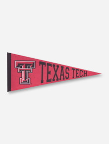 Texas Tech and Double T on Pennant-Shaped Canvas
