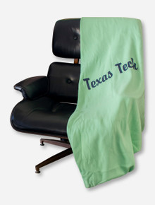 MV Sport Black Texas Tech Script on Mint Sweatshirt Blanket