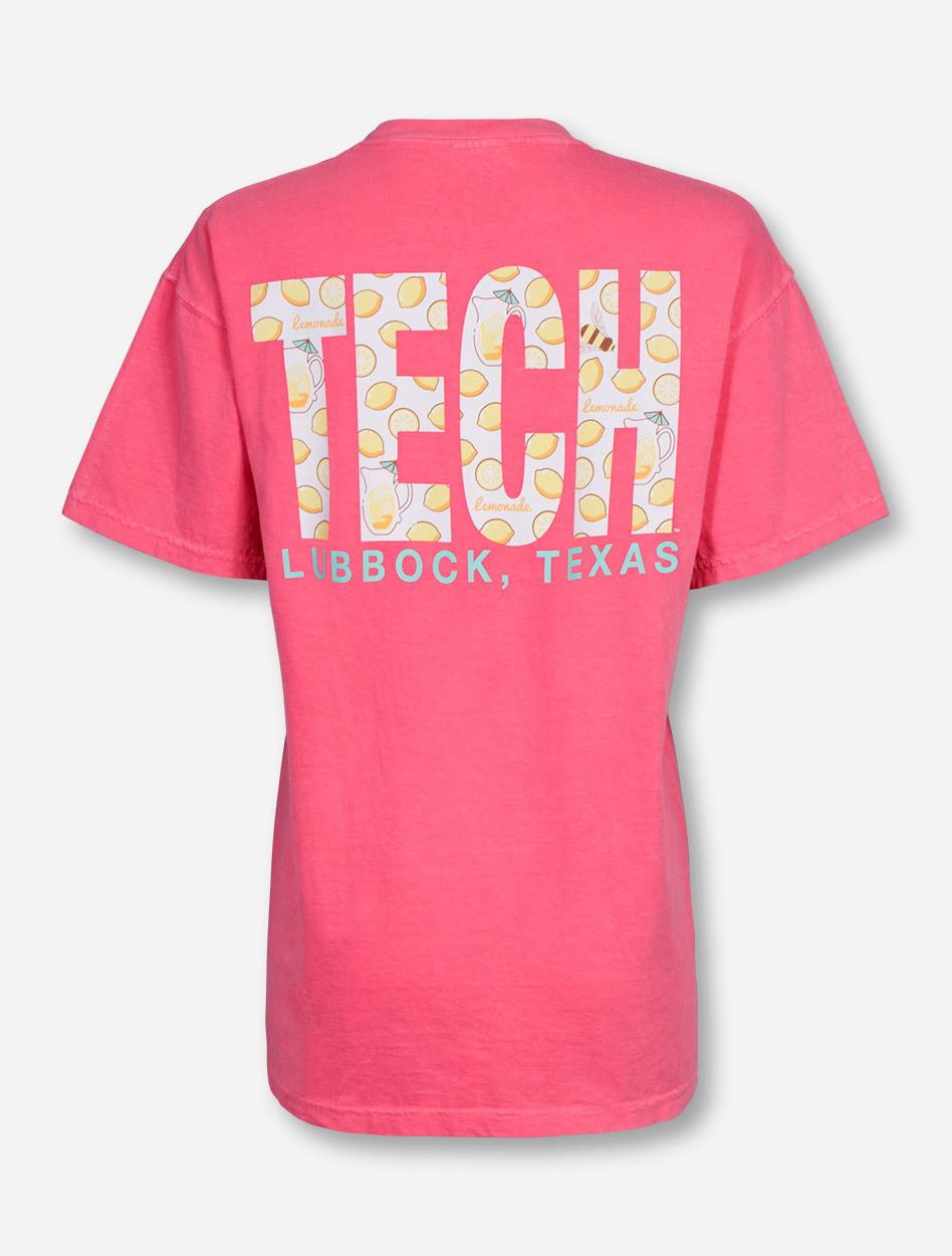 lubbock tx tech in lemonade on watermelon t shirt texas