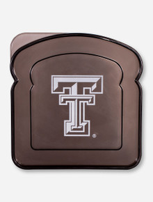 Texas Tech Double T Translucent Charcoal Sandwich Container