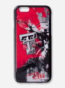 "Guard Dog Texas Tech ""Spirit"" Wreck 'Em Red, Black & White Cell Phone & Credit Card Case"