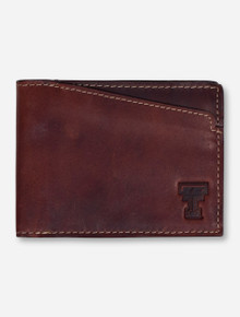 "Texas Tech ""Sawtooth"" Brown Leather Bi-Fold Wallet"