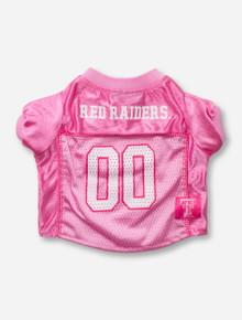 Texas Tech Red Raiders #00 Pink Pet Jersey