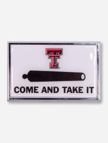 Texas Tech Come and Take It White Car Emblem
