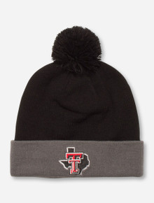 "Under Armour Texas Tech ""Avalanche"" Black and Grey Beanie"