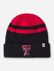 "47 Brand Texas Tech ""Cedarwood"" Black and Red Beanie"