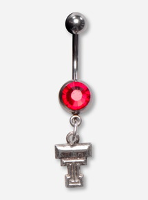 DaynaU Texas Tech Double T Belly Button Ring