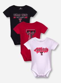 Arena Texas Tech Set of 3 INFANT Onesies