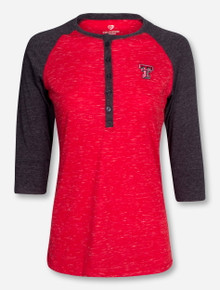 "Arena Texas Tech ""Split"" Women's 3/4 Sleeve T-Shirt"