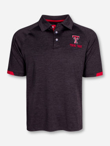 "Chiliwear Texas Tech ""Spiral II"" Heather Charcoal Polo"
