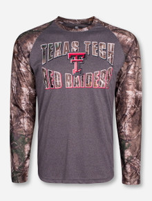 "Arena Texas Tech ""Break Action"" Grey and RealTree Camo Long Sleeve Shirt"