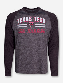 "Arena Texas Tech ""Raven"" Heather Grey Long Sleeve Shirt"