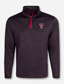 "Arena Texas Tech ""Action Pass"" Heather Charcoal Quarter Zip Pullover"