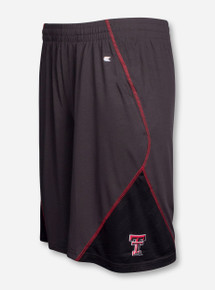 "Arena Texas Tech ""Sleet Embossed"" Charcoal Shorts"