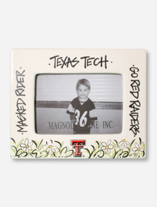 Hand Painted Texas Tech White Ceramic Frame