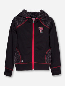 """Arena Texas Tech """"Scaled"""" YOUTH GIRL'S Full Zip Hooded Jacket"""