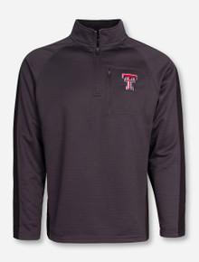 "Arena Texas Tech ""Defender"" Charcoal Quarter Zip Pullover"