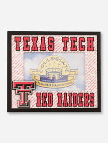 Hannah's Handiworks Texas Tech Red Raiders Red & White Frame
