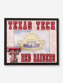 Hannah's Handiworks Texas Tech Red Raiders Red & White Frame