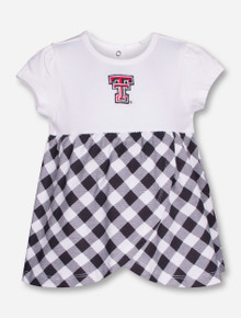 "Garb Texas Tech ""Miranda"" Checkered INFANT One Piece Dress"