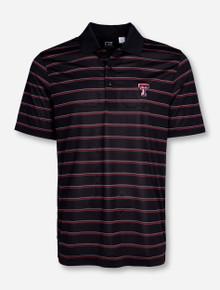 "Cutter & Buck Texas Tech ""Venture"" Striped Polo"