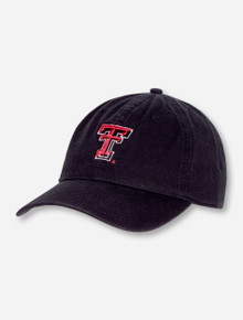 The Game Texas Tech Glitz Double T on Women's Black Adjustable Cap