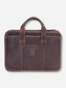 Texas Tech Buffalo Valley Dark Brown Leather Briefcase