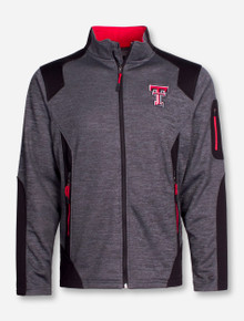"Arena Texas Tech ""Double Coverage"" Charcoal Full Zip Jacket"