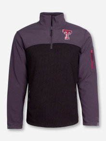 "Arena Texas Tech ""Rush"" Black Quarter Zip Pullover"