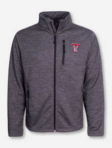 "Arena Texas Tech ""Backfield"" Heather Charcoal Full Zip Jacket"