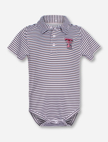 "Garb Texas Tech ""Carson"" INFANT Striped Polo Onesie"