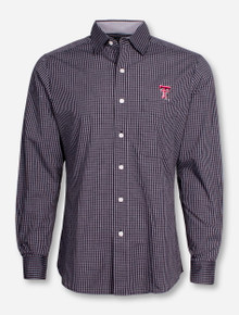 "Antigua Texas Tech ""Division"" Striped Long Sleeve Dress Shirt"