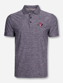 "Antigua Texas Tech ""Element"" Heather Grey Polo"
