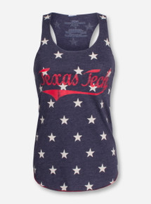 "Texas Tech ""American Star"" Navy Racerback Tank Top"