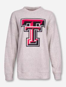 Pressbox Aspen Threads Texas Tech Double T Women's Cream Sweater