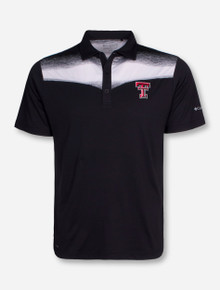 "Columbia Texas Tech ""Lights Out"" White and Black Polo"