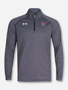 "Under Armour Texas Tech ""Address"" Striped Quarter Zip Pullover"