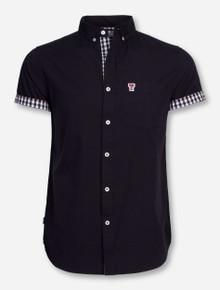 """Texas Tech """"Bierstadt"""" Black Button Short Sleeve Dress Shirt"""