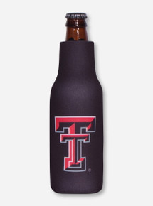 Texas Tech Double T and Red Raiders Zippered Bottle Koozies