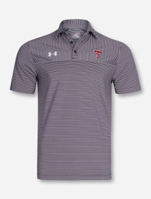 Under Armour Texas Tech 2016 Media Day Striped Polo