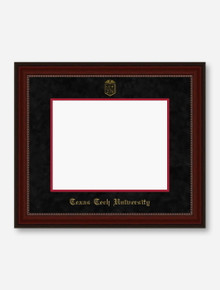 Gold Embossed Cherry Bead Black Suede Diploma Frame T4