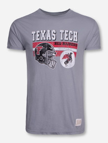 "Retro Brand Texas Tech ""Formation"" on Grey T-Shirt"