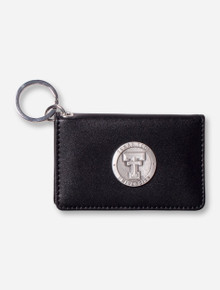 Heritage Pewter Texas Tech ID Black Leather Holder