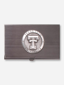 Heritage Pewter Texas Tech Silver Metal Card Case