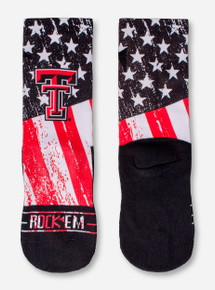 Texas Tech Double T Stars and Stripes Socks