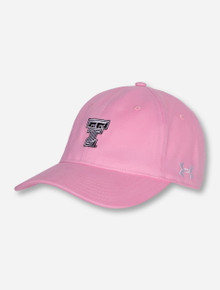 Under Armour Texas Tech Double T on Women's Pink Adjustable Hat