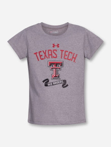 "Under Armour Texas Tech ""Banner Year"" GIRL'S Heather Grey T-Shirt"
