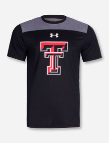 "Under Armour Texas Tech ""Blindside"" Grey and Black T-Shirt"