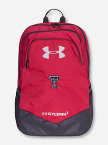 "Under Armour Texas Tech ""Scrimmage"" Black and White Double T on Pink Back Pack"